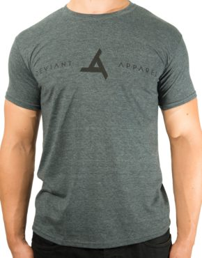 Deviant Apparel | Grey Black Logo Tee